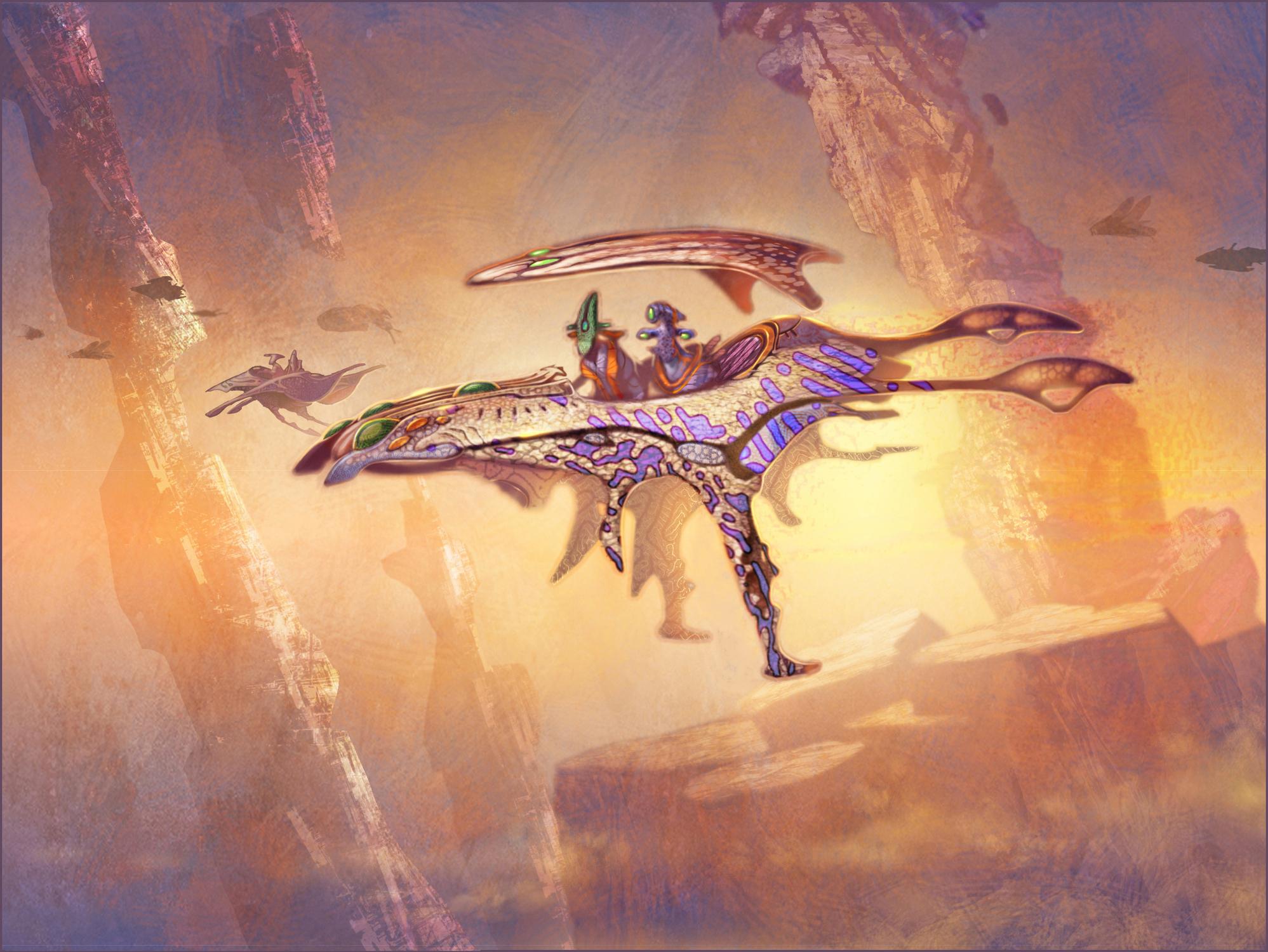 Alien Transport Concept Art Artwork by Gary Freeman