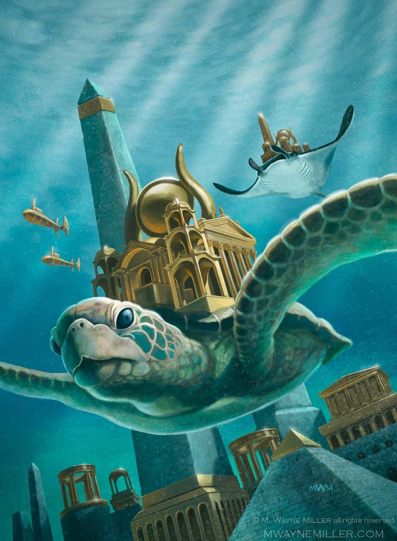 Atlantis Rising Artwork by Wayne Miller