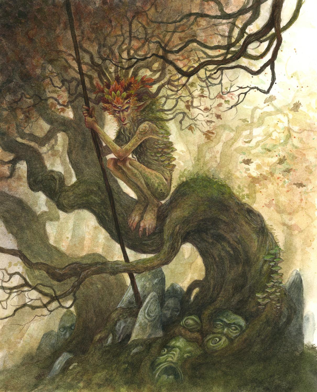 The Green Man Artwork by iris compiet