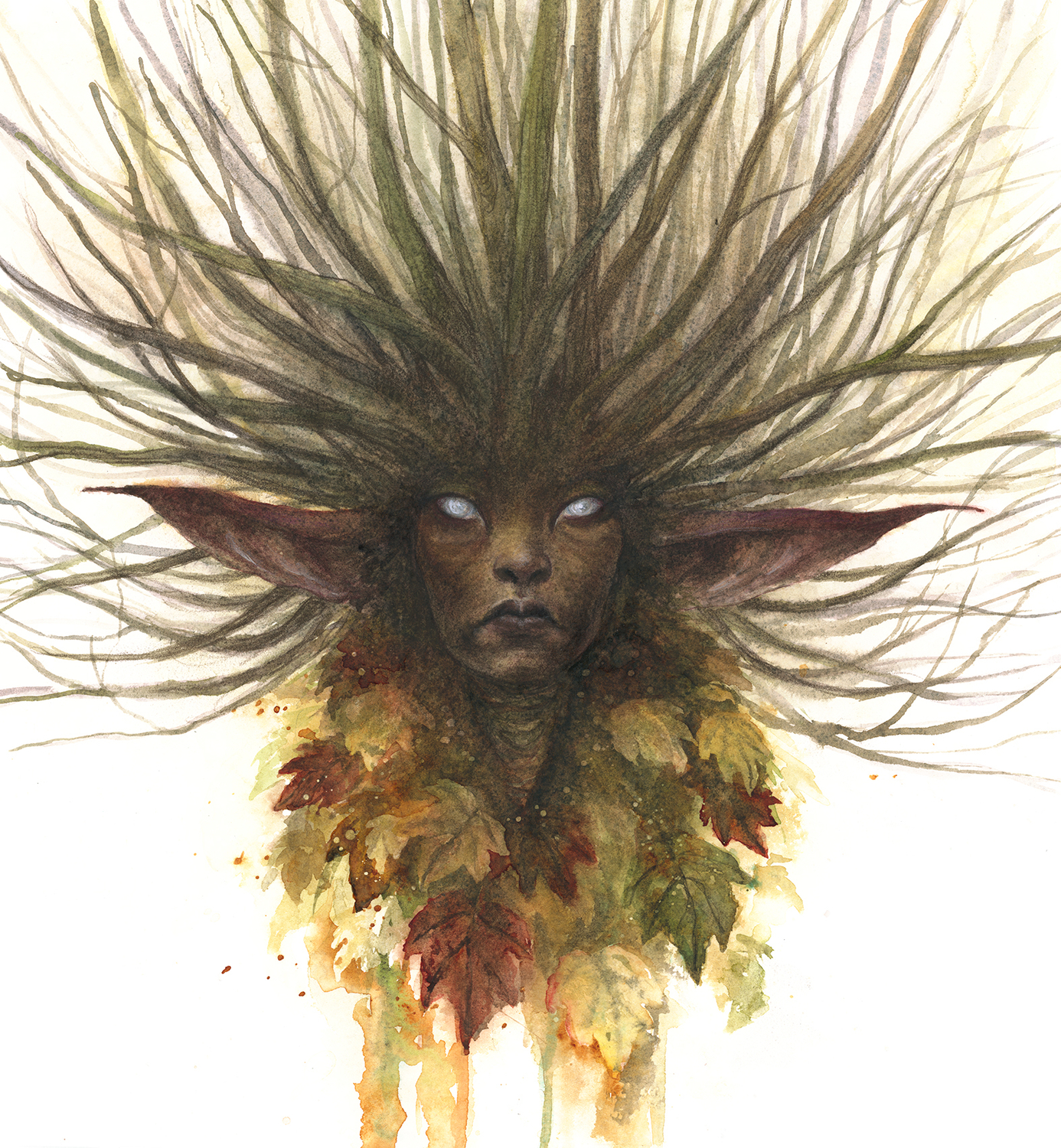Fae of the Leaves Fallen Artwork by iris compiet