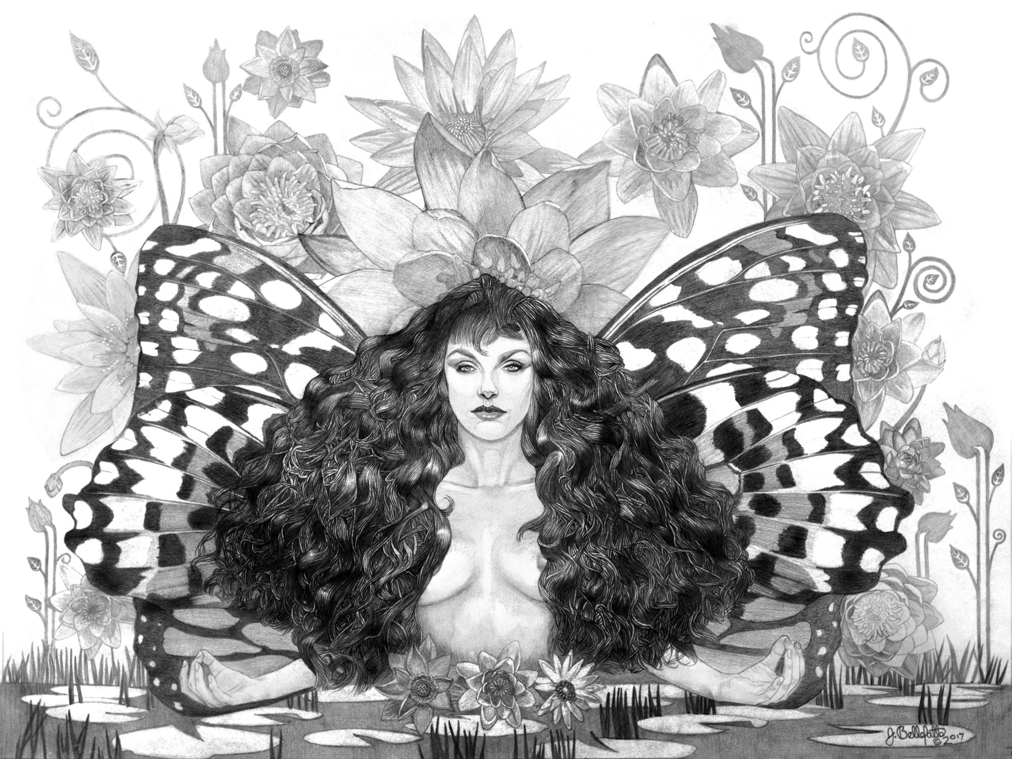 The Lotus Position Artwork by Joseph Bellofatto