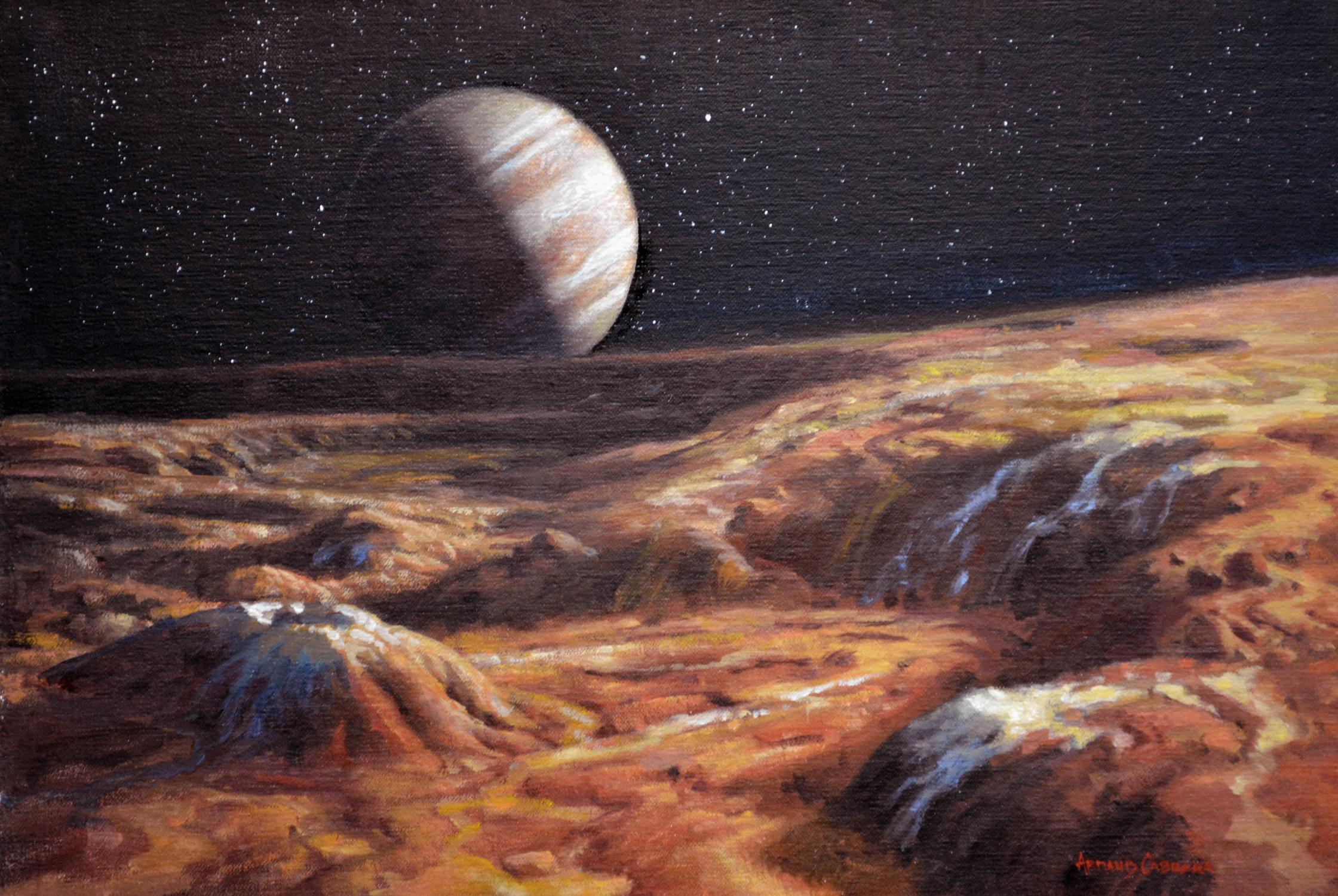 Jupiter From Io Artwork by Armand Cabrera