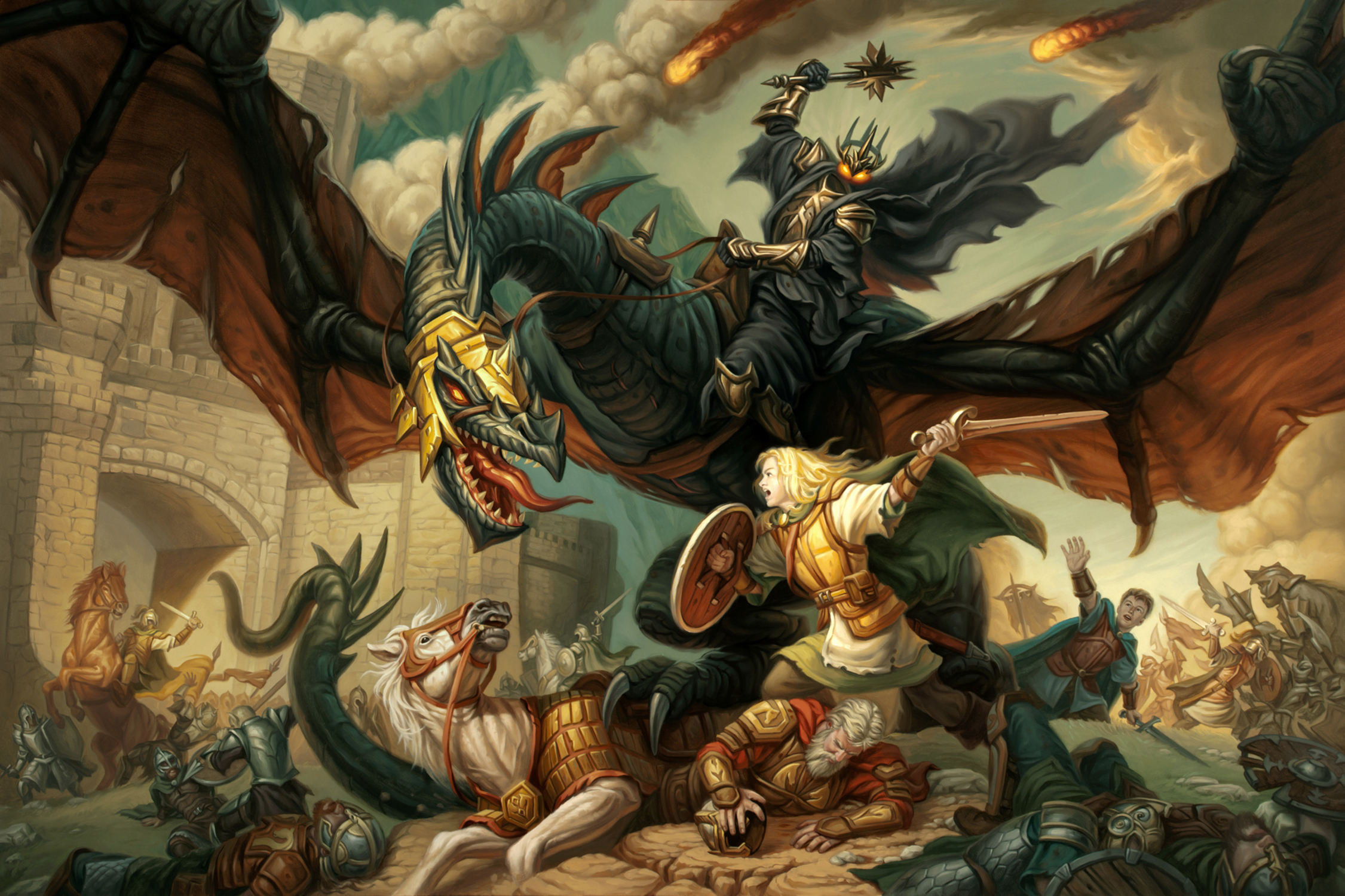 Eowyn and the Nazgul Artwork by Mike Sass