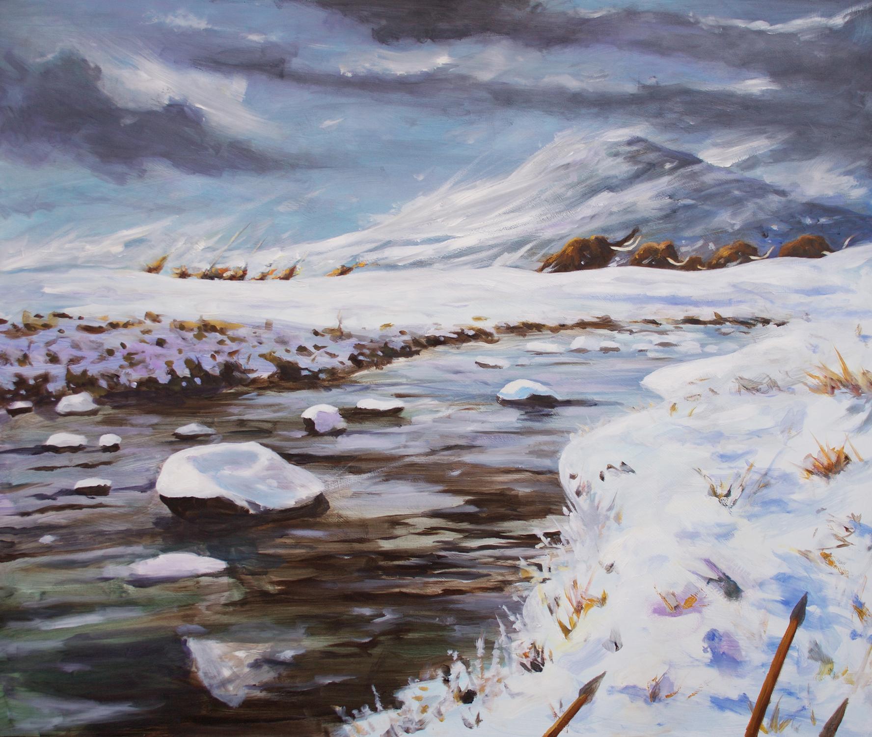 The Mammoth Hunt Artwork by Brian McElligott