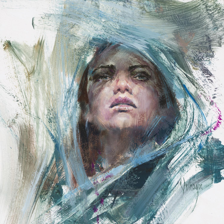 Blue Shawl Artwork by Eric Velhagen