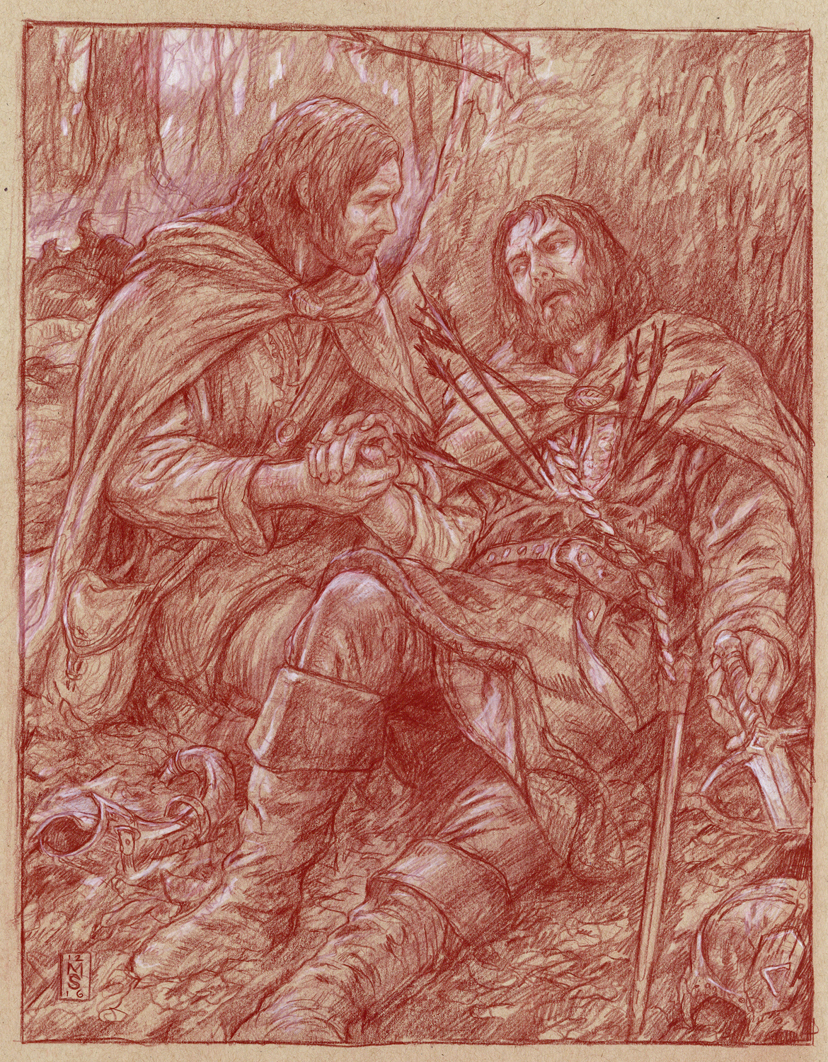 The Last Words of Boromir Artwork by Matthew Stewart