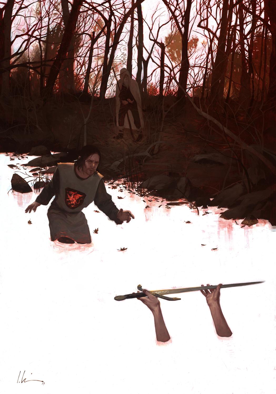 Morte D' Arthur Artwork by Jeremy Wilson
