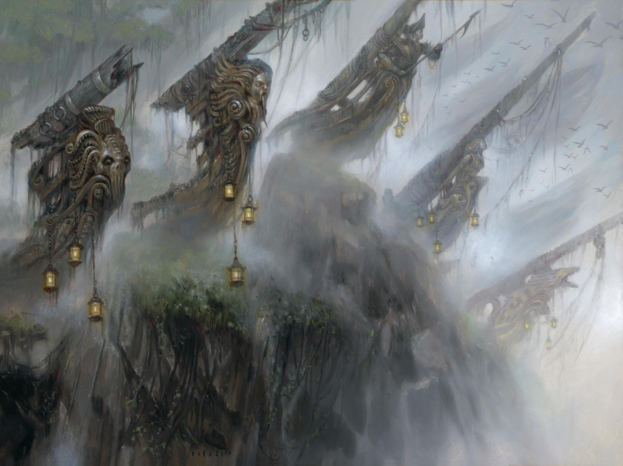 Crumbling Necropolis Artwork by Volkan Baga