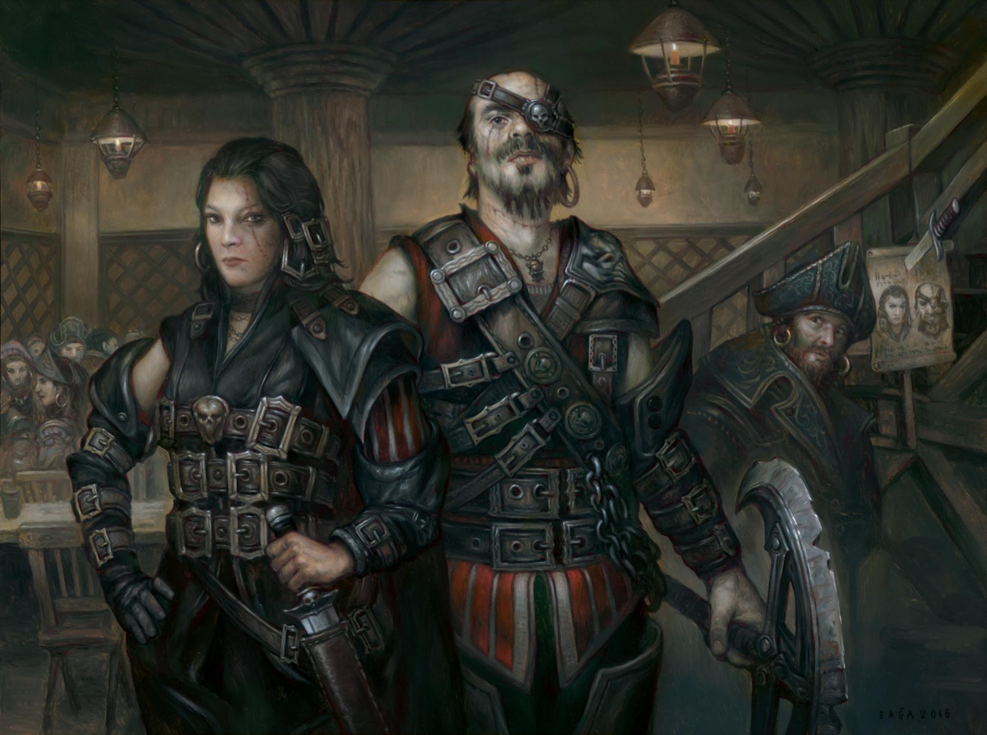 Wanted Scoundrels Artwork by Volkan Baga