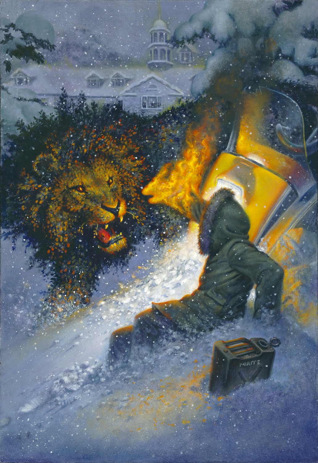 Hallorann and the Lion Artwork by Don  Maitz