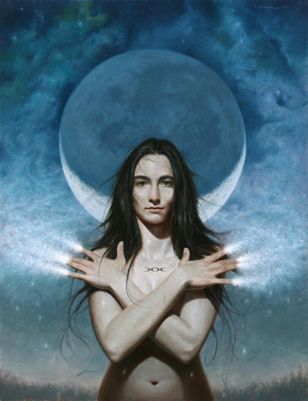 Moon Goddess Artwork by Vince Natale