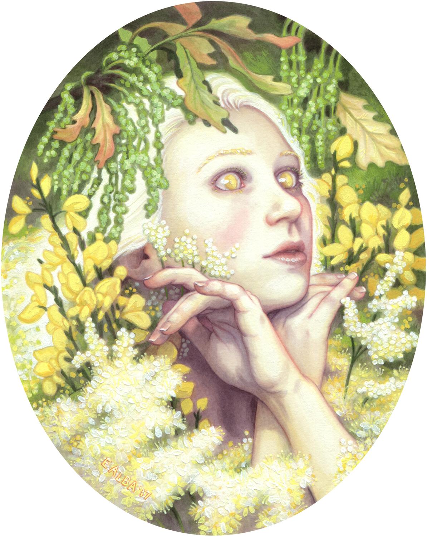 Blodeuwedd Artwork by Elisabeth Alba