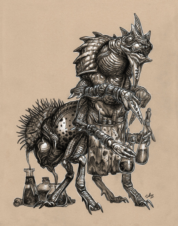 Virulent Artificer Artwork by Christopher Burdett