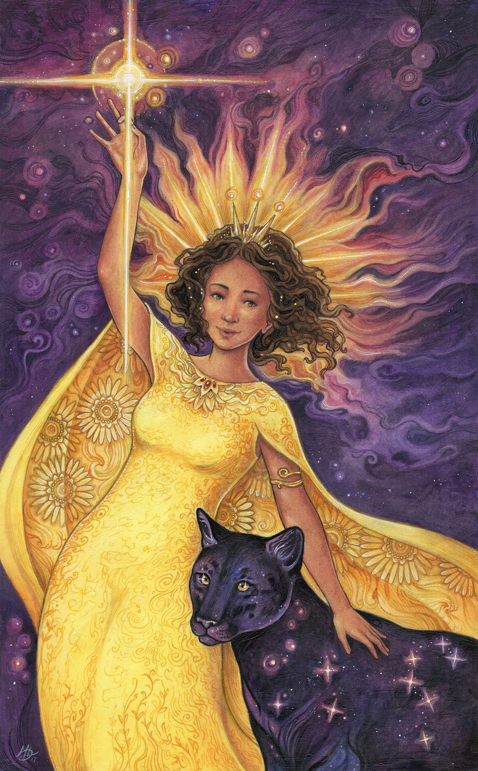 Queen of Wands Artwork by Meredith Dillman