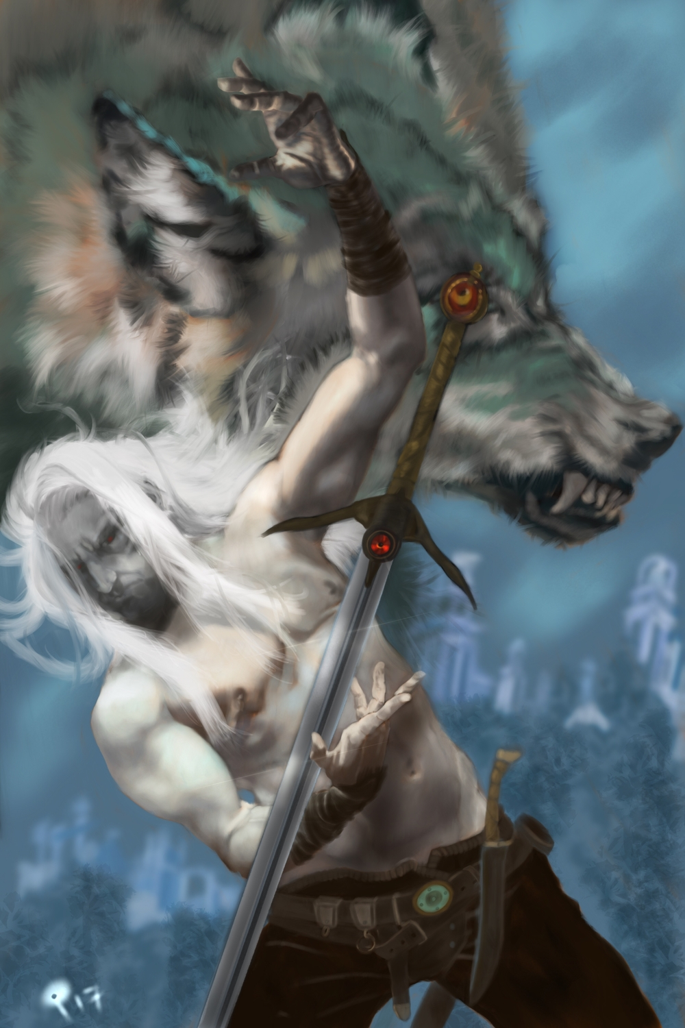 Sword of the Wolf Clan Artwork by Patrick Stacy