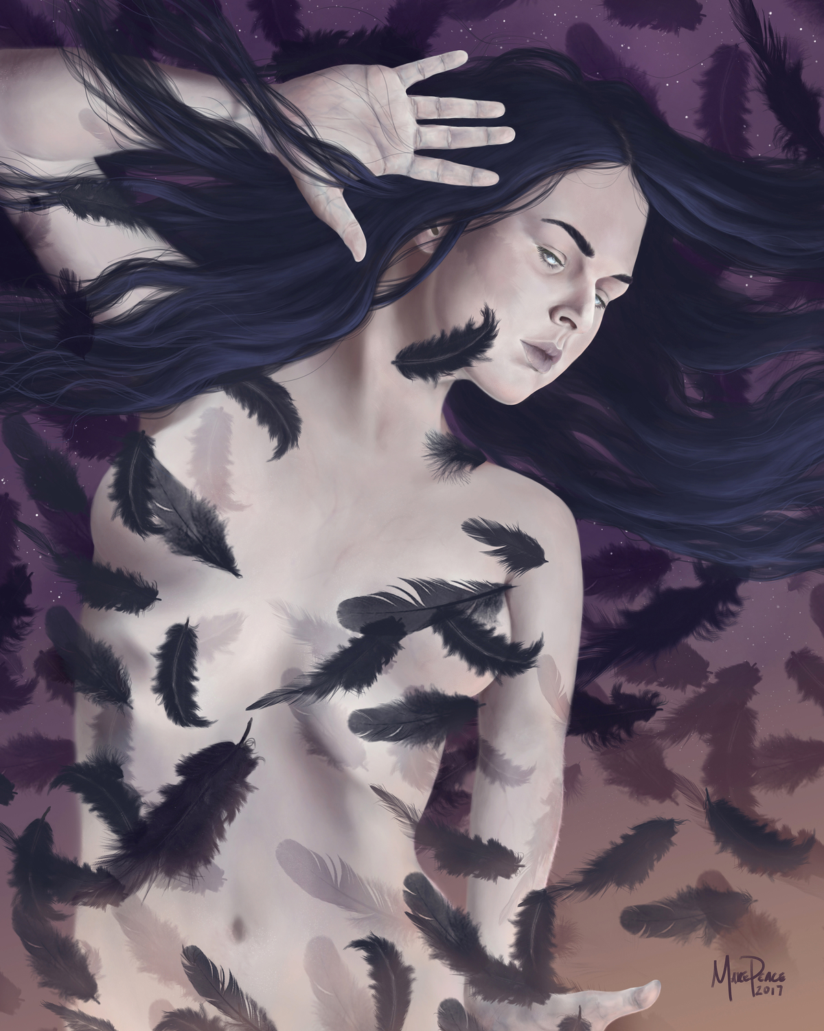 Raven Queen Rising Artwork by Amanda Makepeace