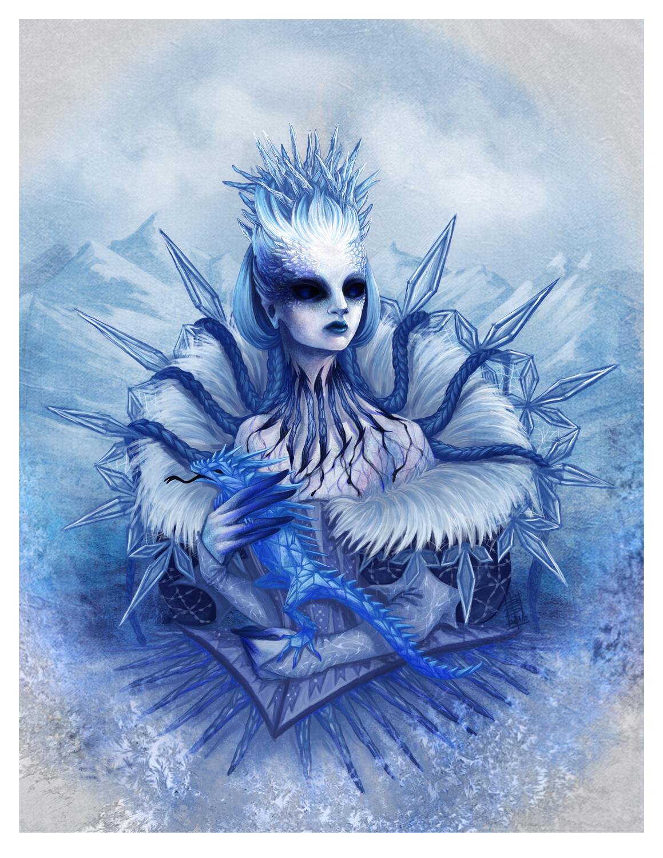 Lady Winter Artwork by Beatrice Pelagatti