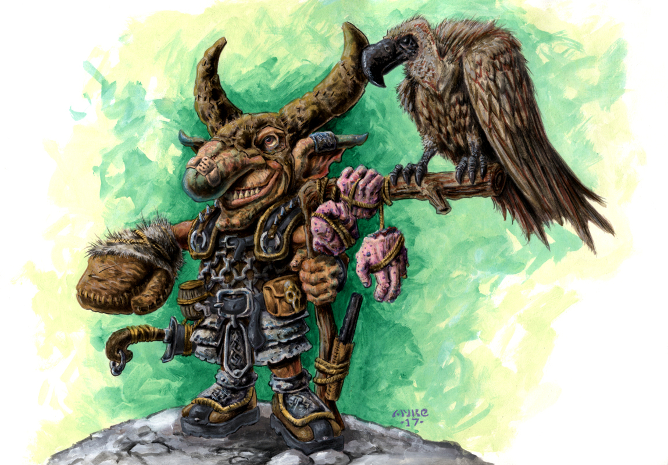 Goblin Vulture Master Artwork by Michael Rechlin