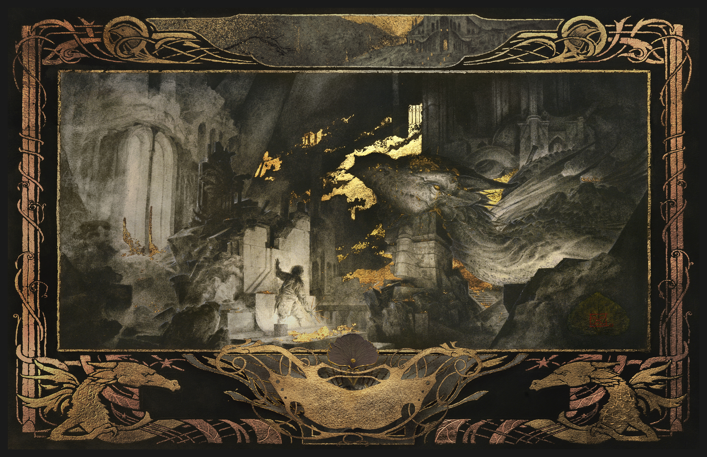 Beowulf - The Dragon's Cave Artwork by Yoann Lossel