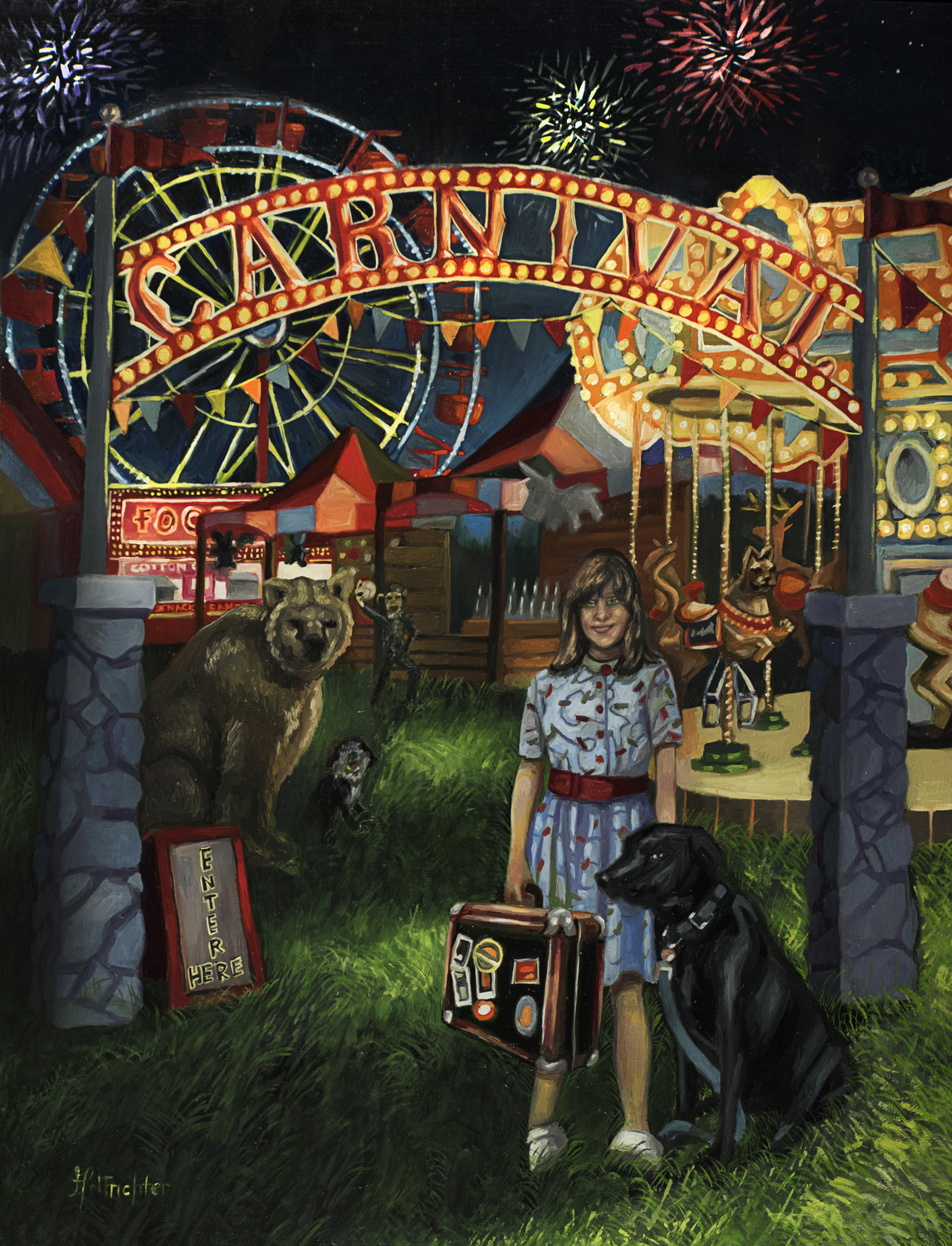 Kathy Joins the Carnival Artwork by David Hoffrichter