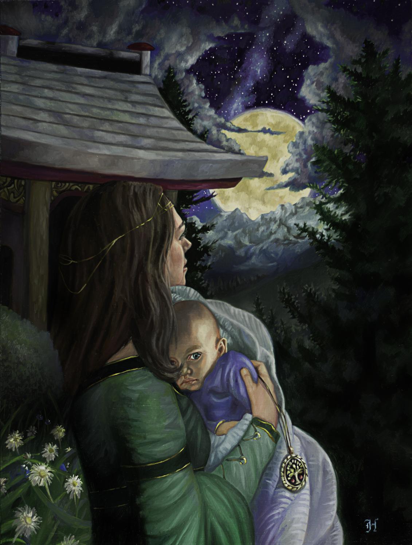 Moon's Lullaby Artwork by David Hoffrichter