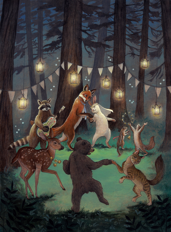 Woodland Wedding Artwork by Rebecca Solow