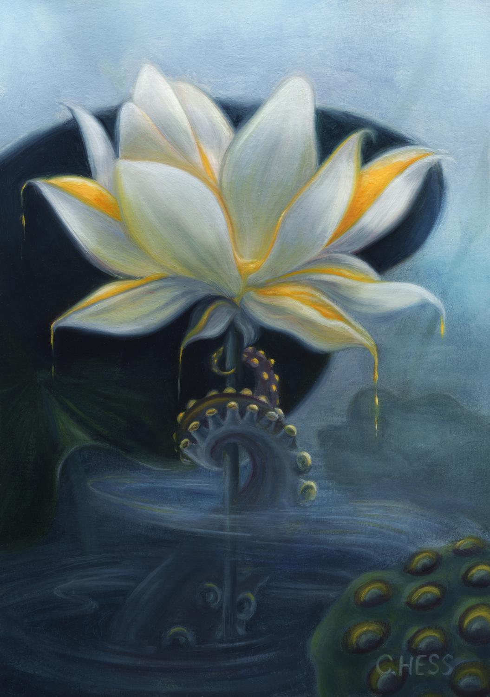 Octo Lotus Artwork by Christina Hess
