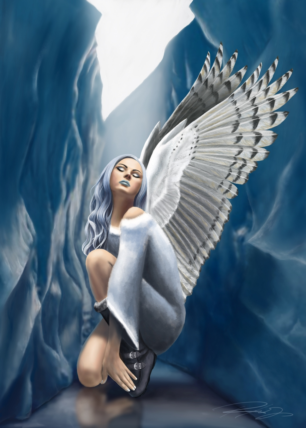 Winter Fairy Artwork by Roxana  Say