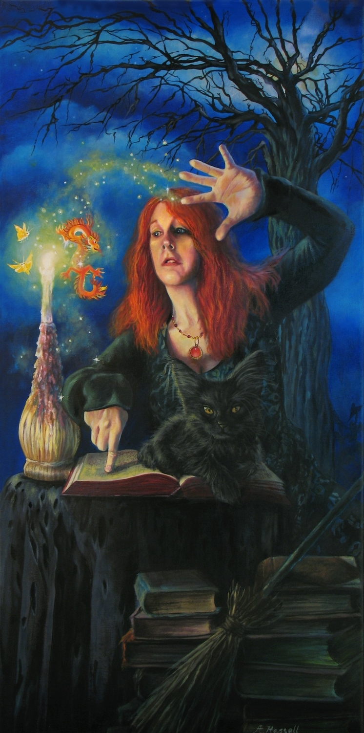 Practicing Magic Artwork by Annette Hassell