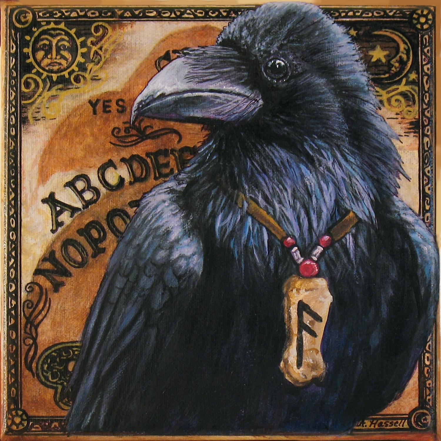 Mystic Raven Artwork by Annette Hassell