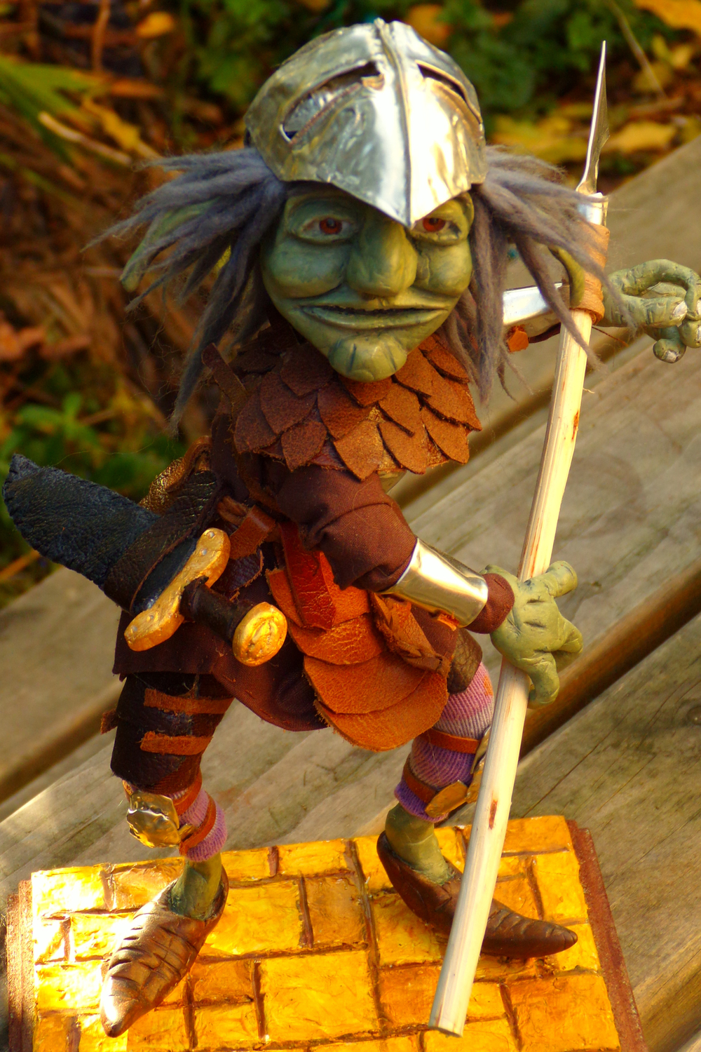 Labyrinth inspired Goblin Warrior Artwork by Cherrie Button