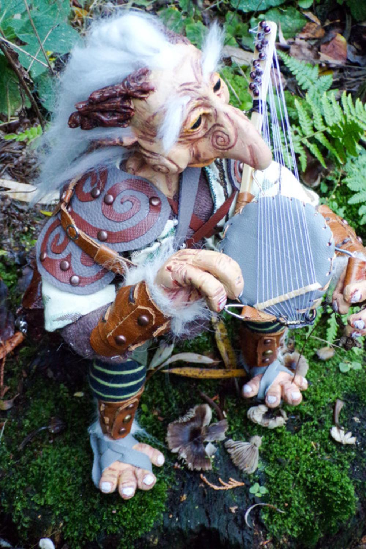 The Troll Harpist Artwork by Cherrie Button