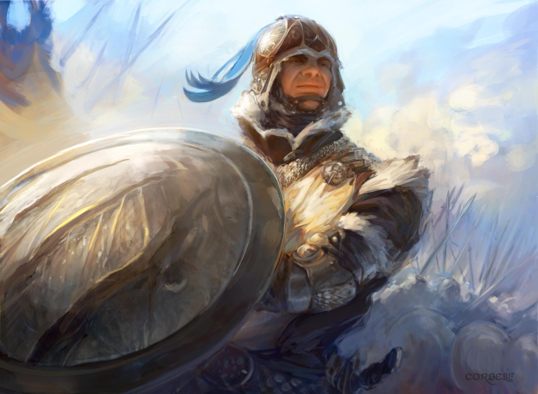 Shield Bearer Artwork by Nick Corbell