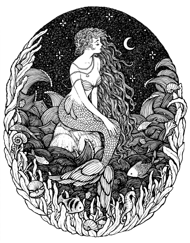 Sereia  Artwork by Janaina Medeiros