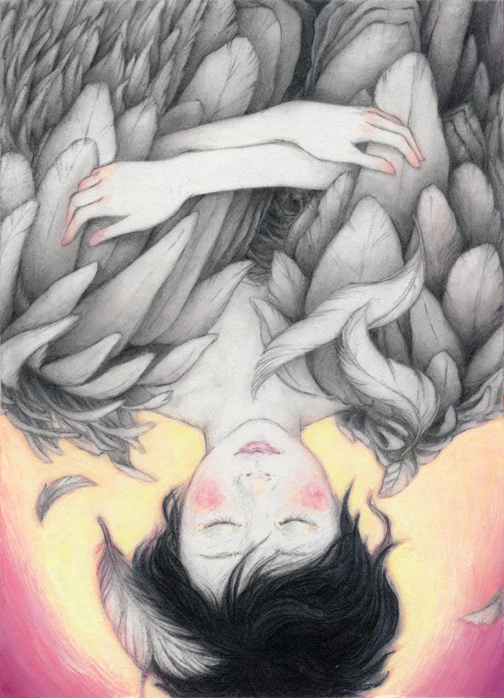 Falling Artwork by Christine Rhee