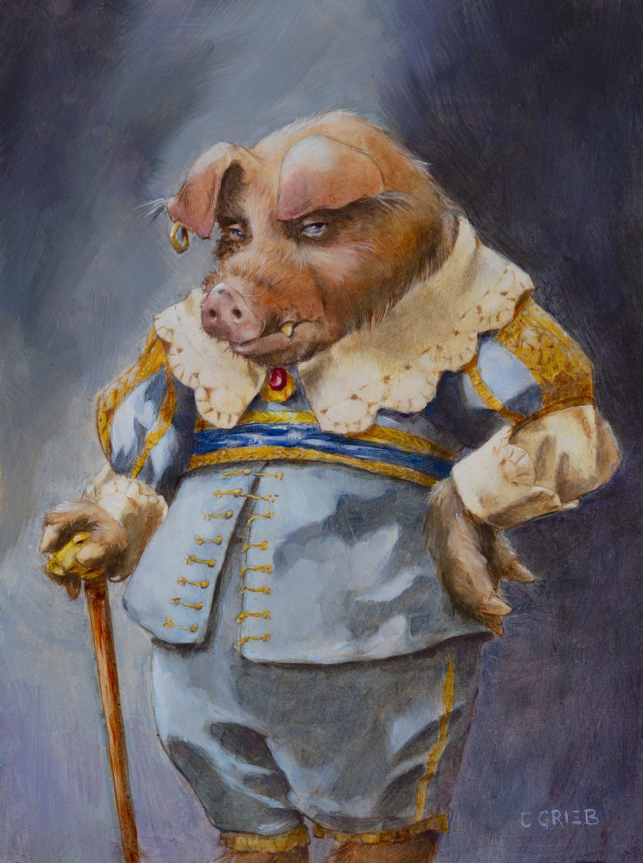 G'vin, a Goblin Dandy Artwork by Chuck Grieb