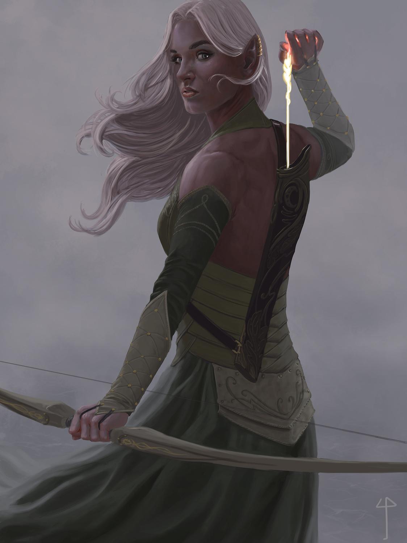 The Last Elven Arrow Artwork by Claudio Pozas