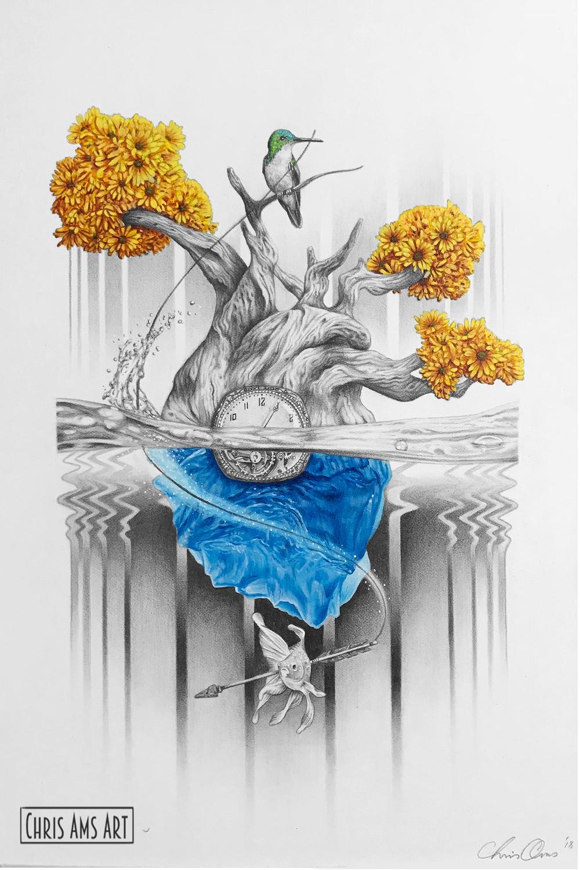 Heart Artwork by Chris  Ams