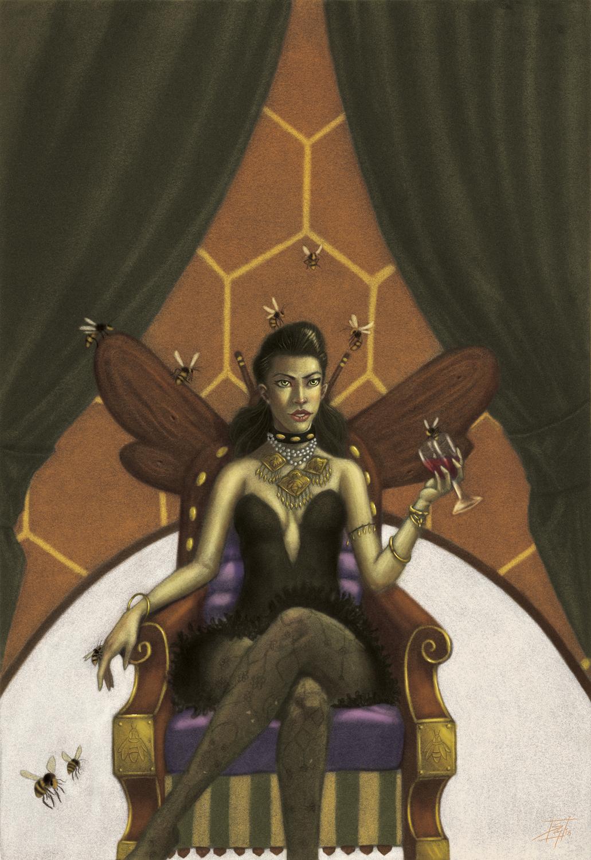Queen Bee Artwork by Sebastian  Gomez