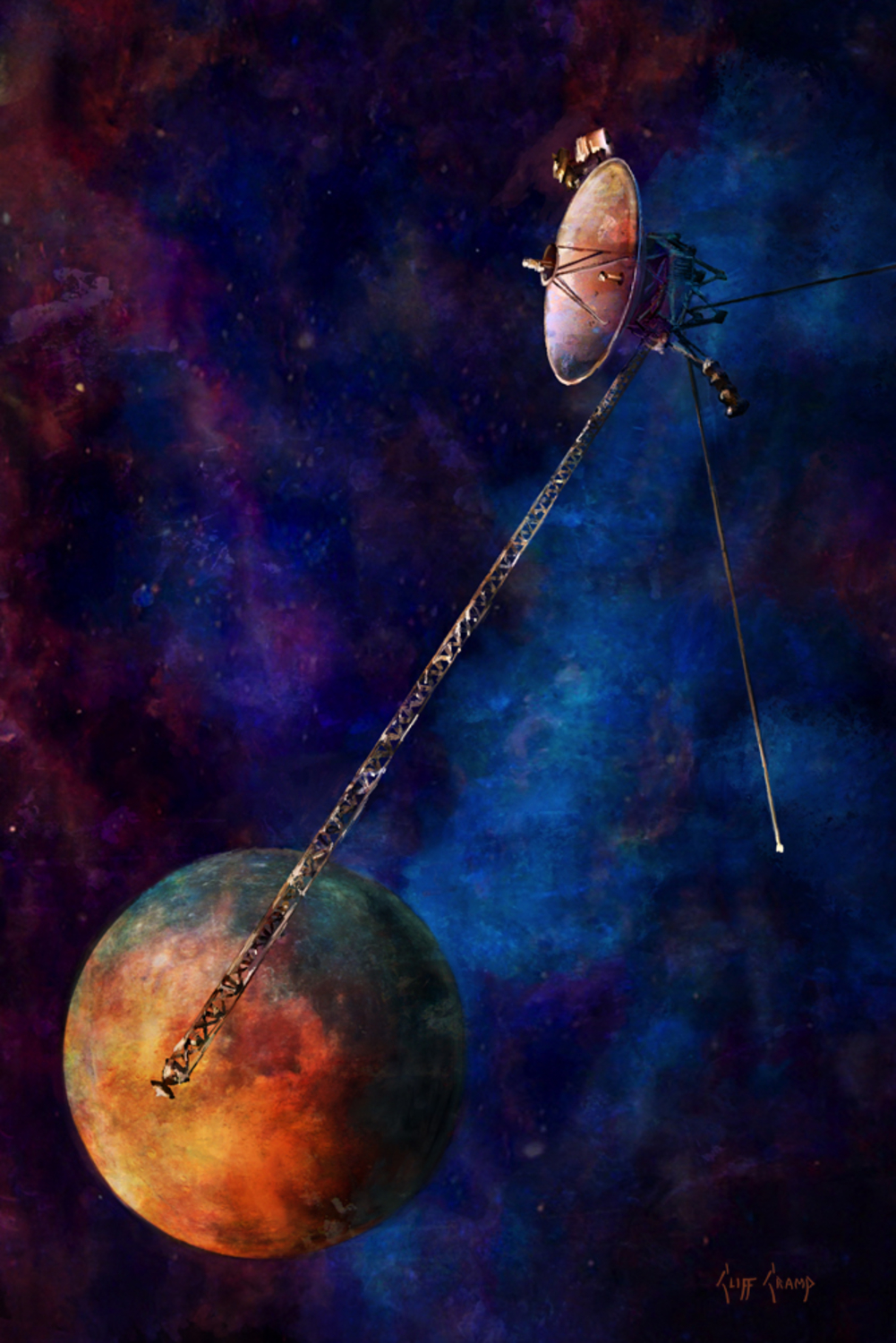 Voyager 1 Artwork by Cliff Cramp