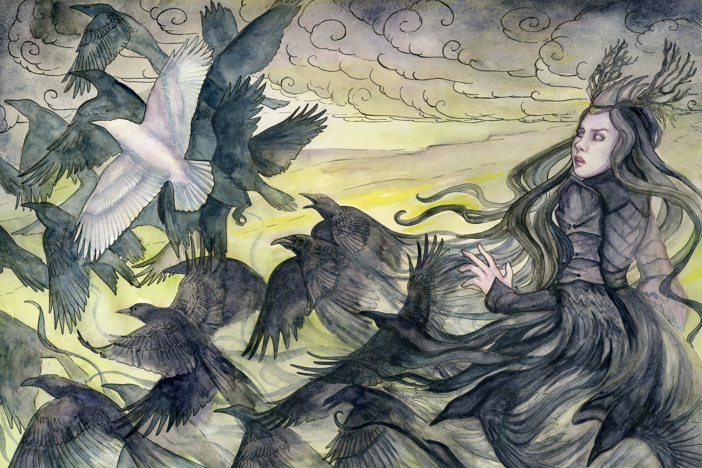 Raven Queen Artwork by Rachel Quinlan