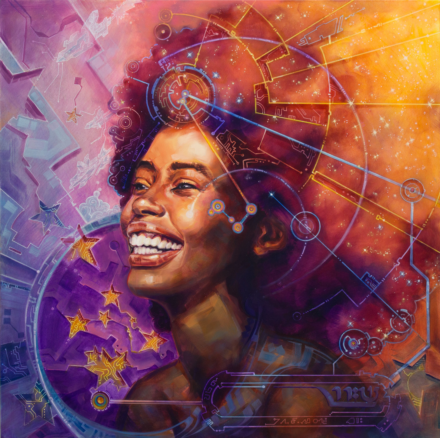 Queen of Heaven (Nebula) Artwork by Dan Cohen