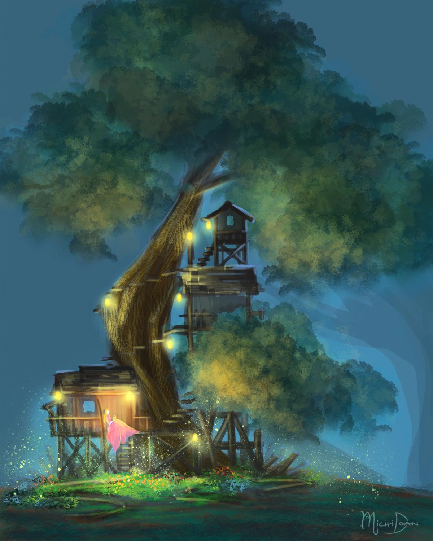 Tree House Artwork by Michi Doan