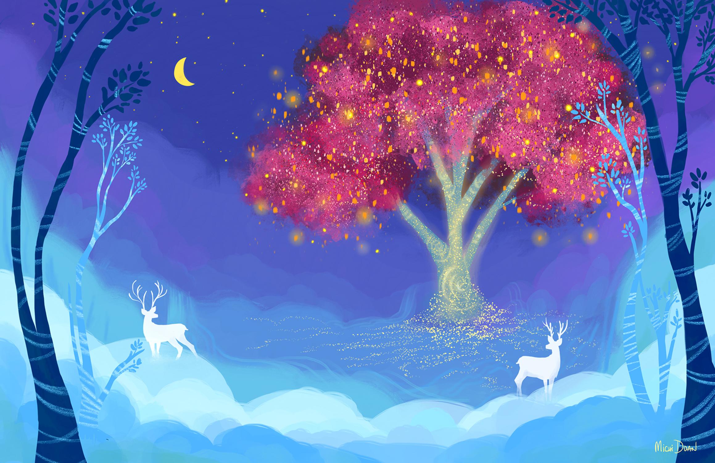 Wishing Tree Artwork by Michi Doan