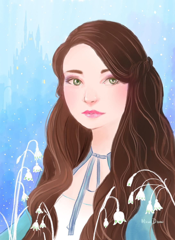 Snow White Artwork by Michi Doan