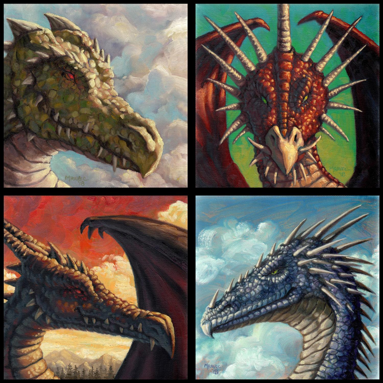 Dragon Field Studies Artwork by James Mravec