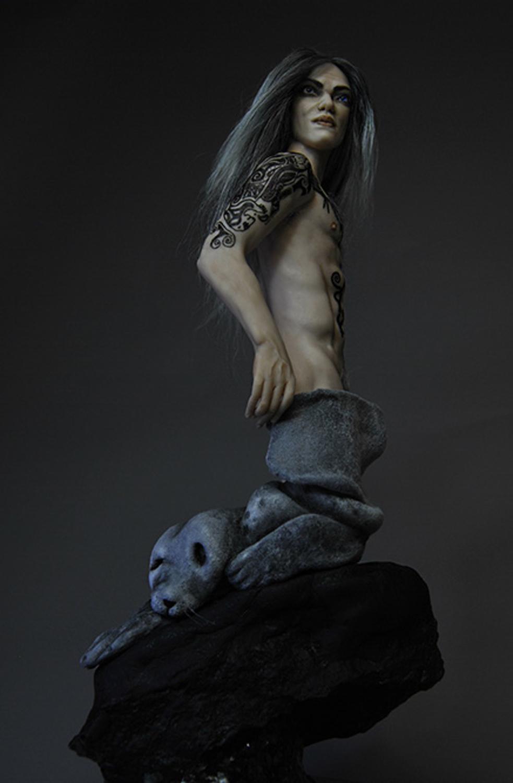 Grey Selkie Artwork by Barbara Kee