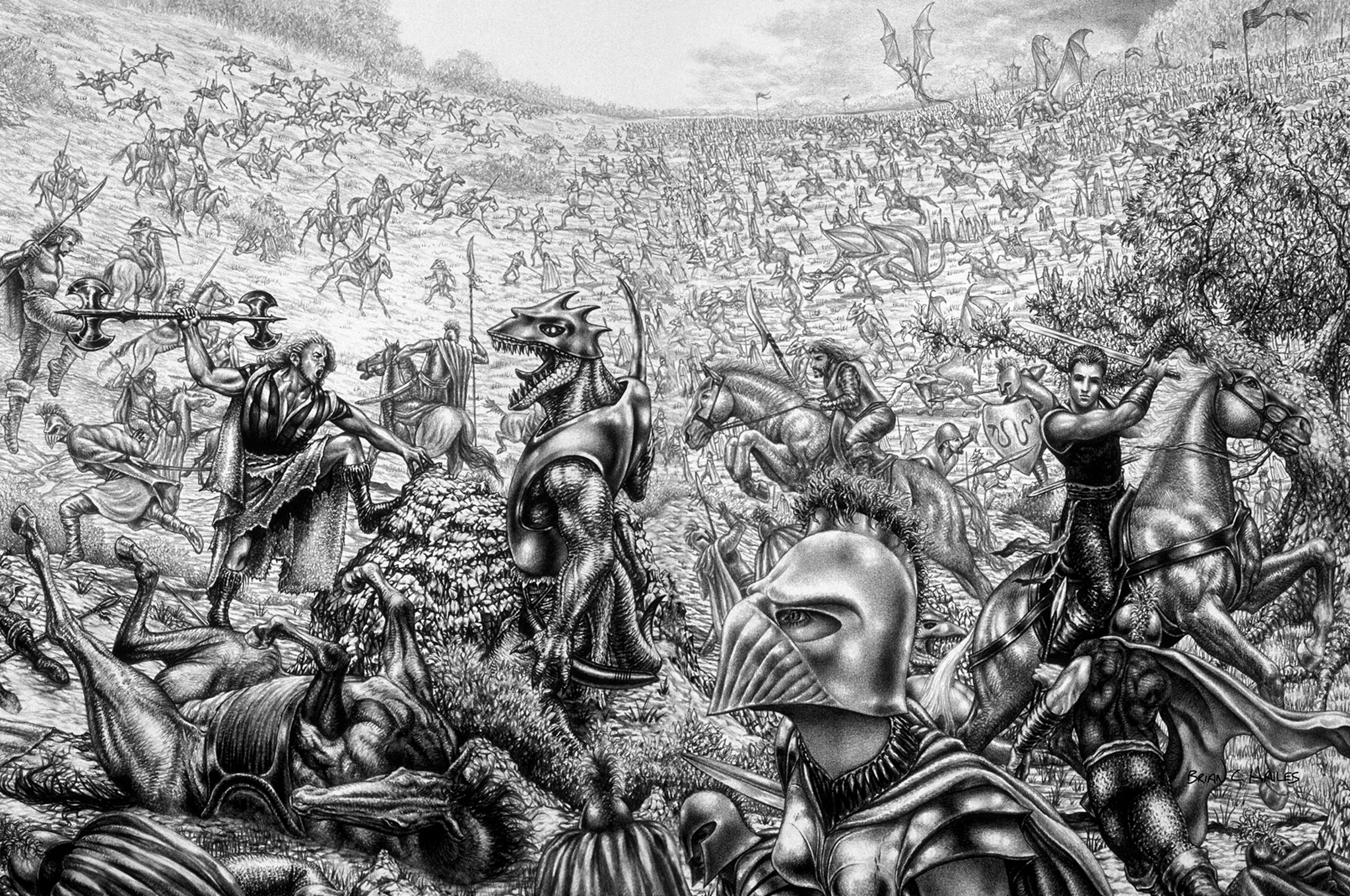 The Battle of Stadberry Artwork by Brian C. Hailes