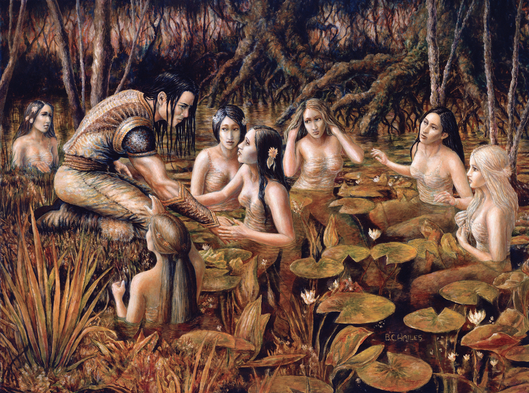 Tyris & the Water Nymphs Artwork by Brian C. Hailes
