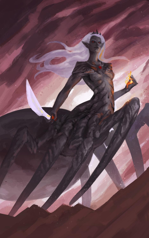 Spider Queen Artwork by Laura Galli